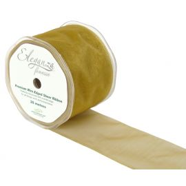 ELEGANZA FINESSE WIRED RIBBON 70MM x 20M GOLD NO.35A