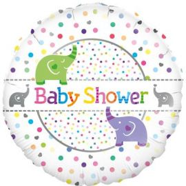 18 INCH BABY SHOWER WITH ELEPHANTS