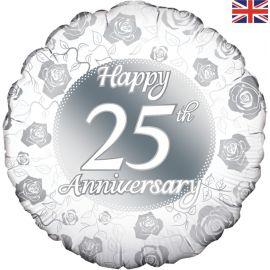 18 INCH HAPPY 25TH ANNIVERSARY