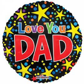 18 INCH FOIL LOVE YOU DAD BALLOON