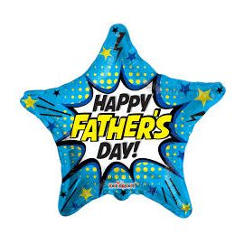 18 INCH FOIL STAR HAPPY FATHERS DAY