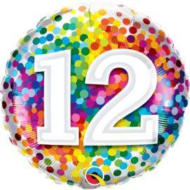 18 INCH AGE 12 RAINBOW CONFETTI 13522 071444135207