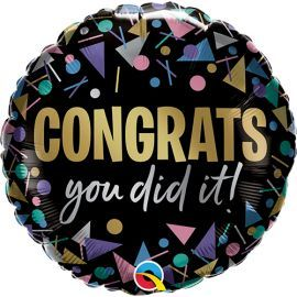 18 INCH CONGRATS YOU DID IT FOIL BALLOON 17490 071444174497