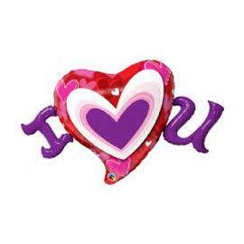 46 INCH I(HEART) U RADIANT HEARTS 54894 071444548861
