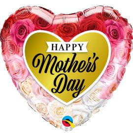 18 INCH MOTHERS DAY ROSES GOLD HEART 82210 071444822084