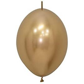 12 INCH LINK O LOONS REFLEX GOLD PK OF 50 7703340176116