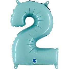 14 INCH NUMBER 2 PASTEL BLUE