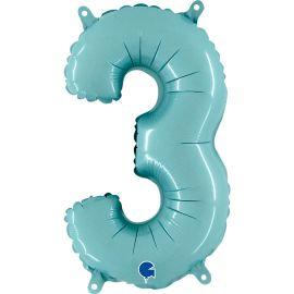 14 INCH NUMBER 3 PASTEL BLUE