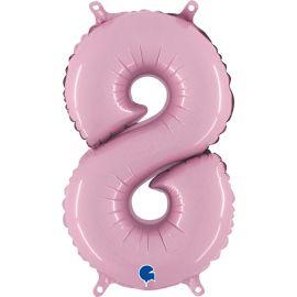 14 INCH NUMBER 8 PASTEL PINK