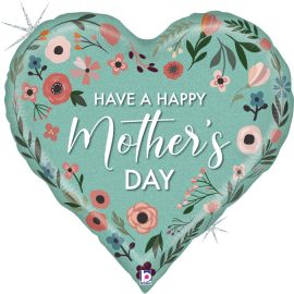 30 INCH MINT MOTHERS DAY HEART 25094GH-P 8055513250949