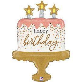 33 INCH BIRTHDAY CAKE CONFETTI 35964GH