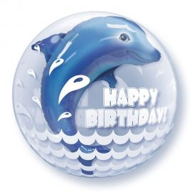 24 INCH HAPPY BIRTHDAY WHALE DOUBLE BUBBLE