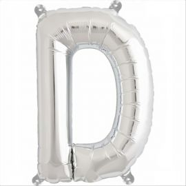 34 INCH SILVER LETTER D BALLOON