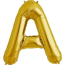 34 INCH GOLD LETTER A BALLOON