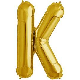 34 INCH GOLD LETTER K BALLOON