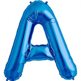 34 INCH LETTER A BLUE BALLOON