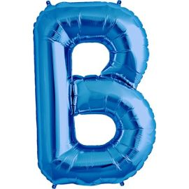 34 INCH LETTER B BLUE BALLOON