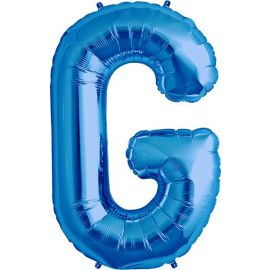 34 INCH LETTER G BLUE BALLOON