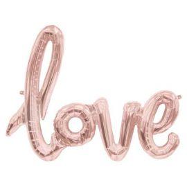 30 X 23 INCH LOVE SCRIPT ROSE GOLD 847881012872