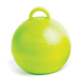 LIME GREEN BUBBLE BALLOON WEIGHTS PACK 25