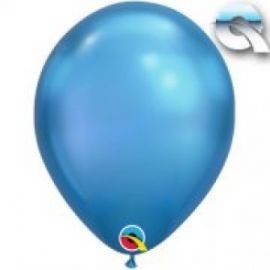 11 INCH CHROME BLUE LATEX BALLOONS 25CT
