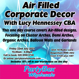 AIR FILLED CORPORATE DECOR BALLOON COURSE 22ND JULY 2021