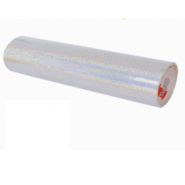 SILVER HOLOGRAPHIC VINYL 305MM X 1M