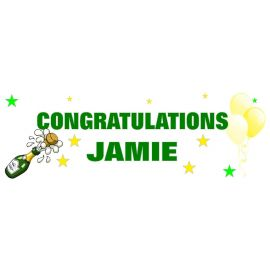 LARGE PERSONALISED BANNER 6FT X 2FT TEMPLATE 10