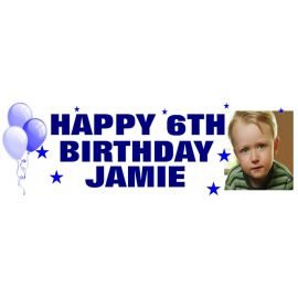LARGE PERSONALISED BANNER 6FT X 2FT TEMPLATE 3