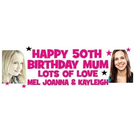 LARGE PERSONALISED BANNER 6FT X 2FT TEMPLATE 6